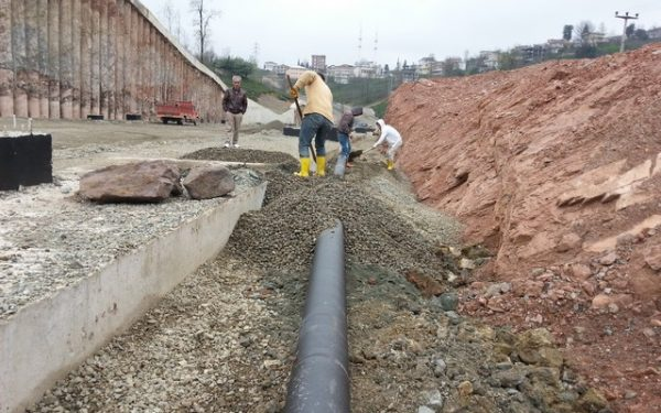 Construction of drinking water and sewer system / Rize-